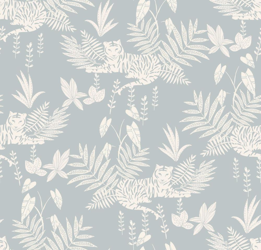法國壁紙  動物紋 綠色植物紋 兒童房壁紙 2色可選 Season Paper 壁紙 2
