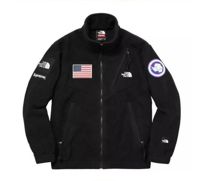 北臉 THE NORTH FACE x Supreme 羊羔毛 Polartec 防風防水 保暖外套 機能衣系列 風衣 騎士外套 黑色