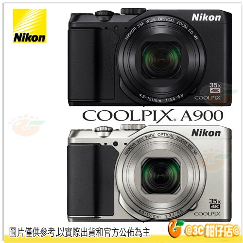免運 送32G+副電+座充+保護鏡+相機包+清潔組等好禮 Nikon COOLPIX A900 相機 公司貨 35倍光學變焦 翻轉螢幕 小巧輕便 4K Wi-Fi NFC
