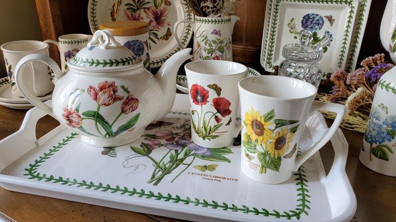 【雙人下午茶組】英Botanic Garden經典植物園系列-兩杯(馬克杯)一壺組加贈托盤