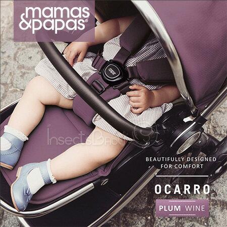 ✿蟲寶寶✿【英國mamas&papas】新生兒可平躺快速收折雙向座椅好推培林輪嬰兒手推車Ocarro紫酒紅