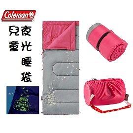 [ Coleman ] 夜光型兒童睡袋 C7 桃紅 / 公司貨 CM-22263