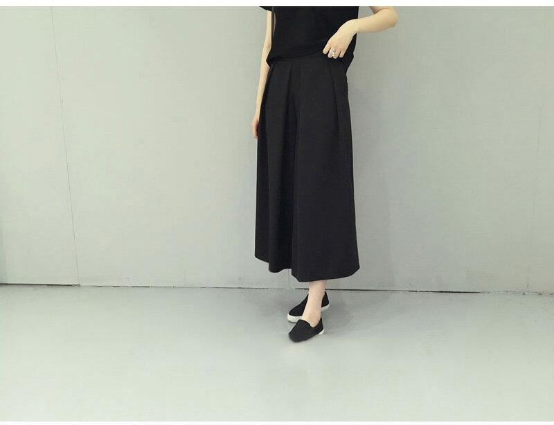 褲裙 修身打摺九分闊腿褲裙 艾爾莎【TAE3196】 1