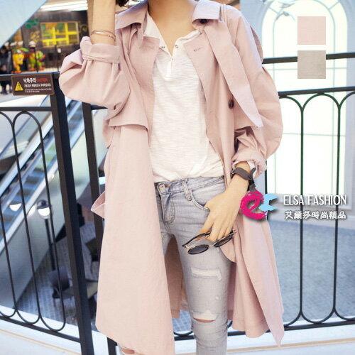 風衣 名媛氣質燈籠袖都會感寬鬆風衣外套 艾爾莎【TAE4236】 0