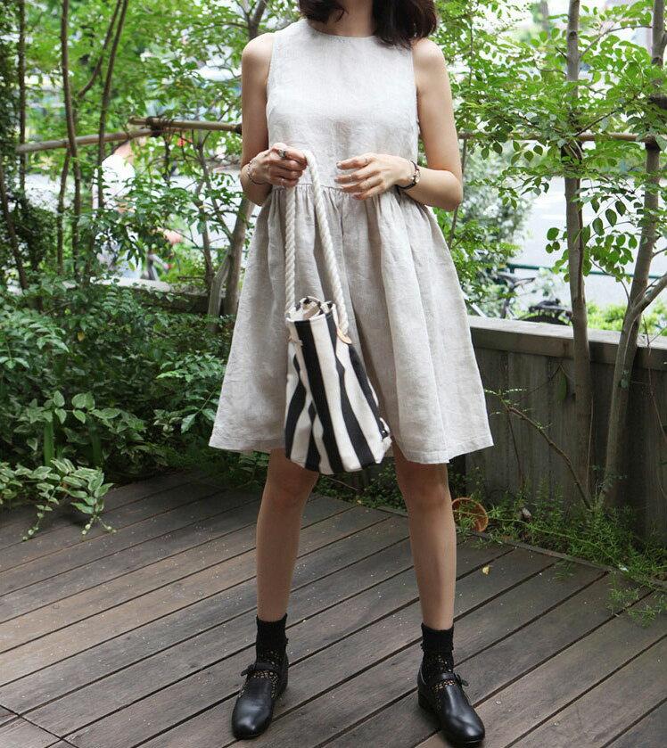 無袖洋裝娃娃裝 隨搭舒適感吊帶背心裙 艾爾莎【TAE5333】 1
