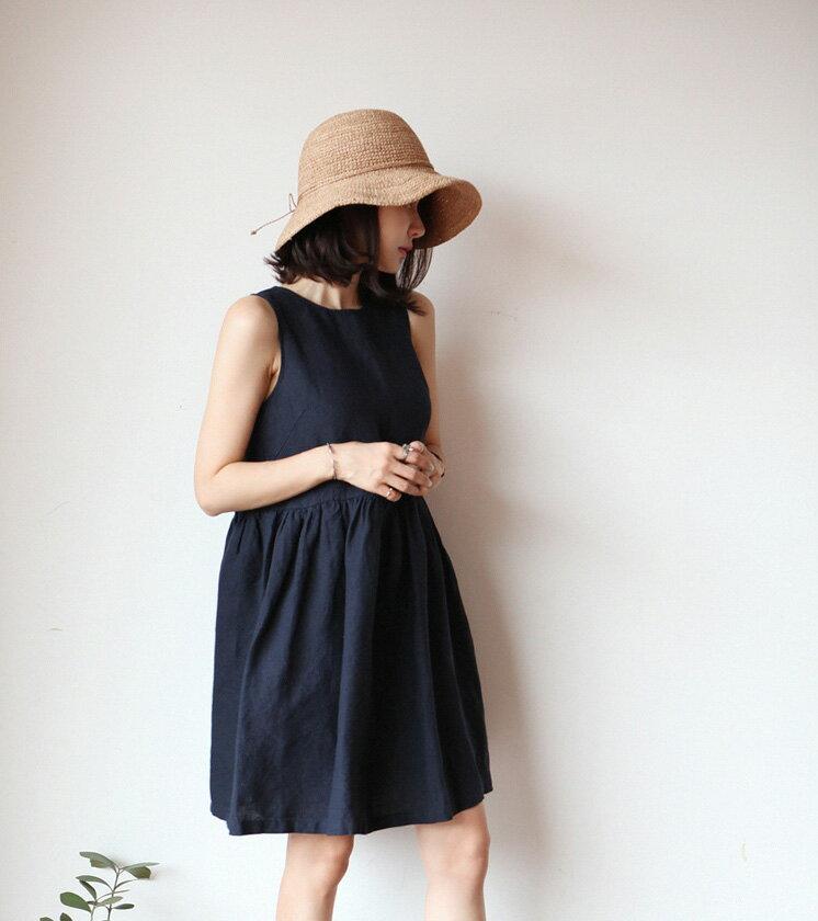 無袖洋裝娃娃裝 隨搭舒適感吊帶背心裙 艾爾莎【TAE5333】 2