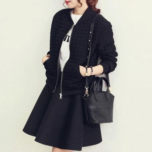 皮革材質 韓式潮流手提肩背鉚釘魅力皮革小包 艾爾莎【TBB6846】 1
