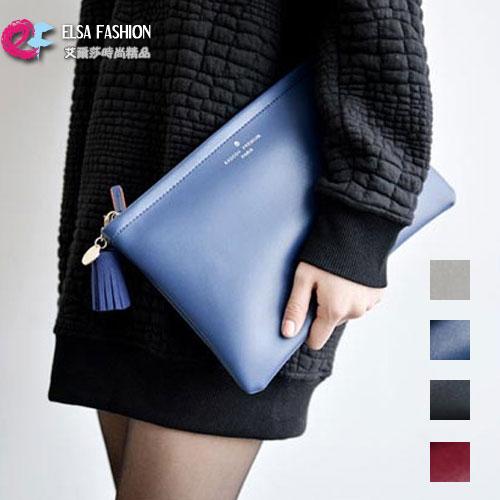 手拿包 艾爾莎 首爾女孩素面質感復古信封包手拿包【TBB6857】 0