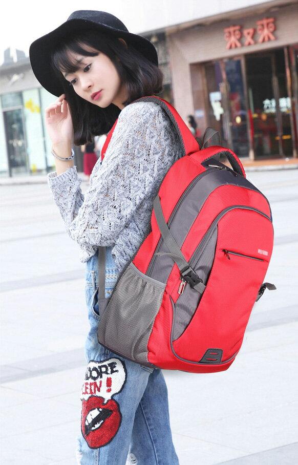 多色後背包 簡單設計款休閒防潑水後背包+贈送斜背包 艾爾莎【TBB6864】 2