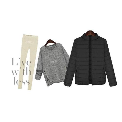 棉質外套 艾爾莎 輕盈簡約立領短版保暖棉服外套【TGK4125】 1
