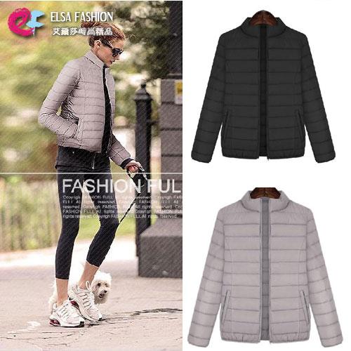 棉質外套 艾爾莎 輕盈簡約立領短版保暖棉服外套【TGK4125】 0