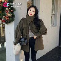 風衣外套推薦到風衣 帥氣女孩休閒軍裝收腰風衣外套 艾爾莎【TGK4379】就在艾爾莎時尚精品推薦風衣外套