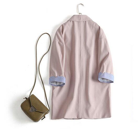 西裝外套 素色翻領開襟西裝外套 艾爾莎【TGK5681】 2