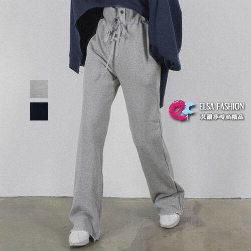 艾爾莎時尚精品:高腰長褲挺版修身高腰綁帶休閒長褲艾爾莎【TGK6068】