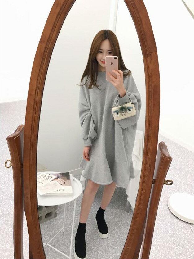 魚尾洋裝 素面百搭魚尾連身裙 艾爾莎【TGK6074】 2