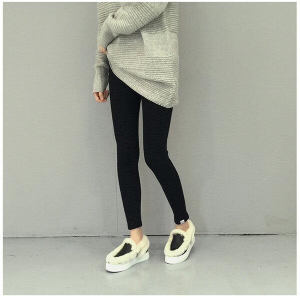 內搭褲毛襪褲襪暖褲長褲 簡約百搭加厚顯瘦內刷毛不倒絨內搭褲 艾爾莎【TOE2246】 2