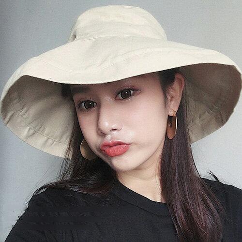 漁夫帽遮陽帽可摺邊夏日必備防曬大草帽艾爾莎【TOE2366】