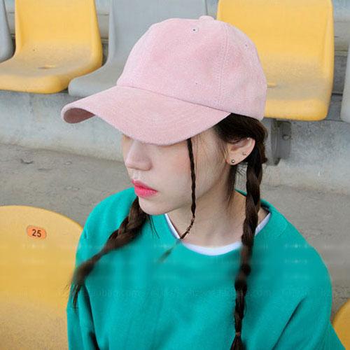 棒球帽 艾爾莎 糖果色霧面麂皮絨鴨舌帽棒球帽【TOY2276】 1