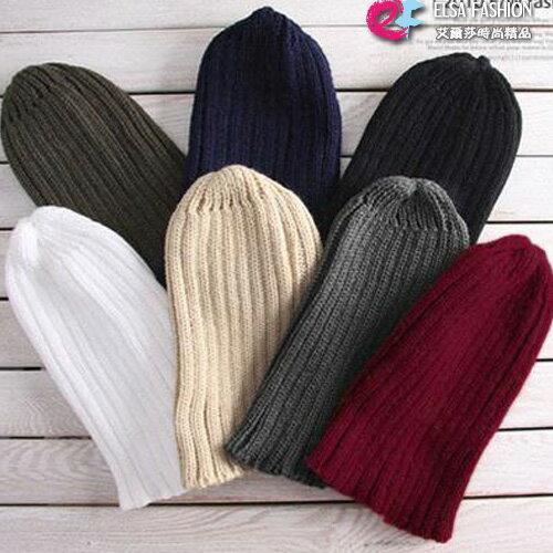 毛帽 男女共用率性風範簡約百搭針織帽 艾爾莎【TOY2284】 0