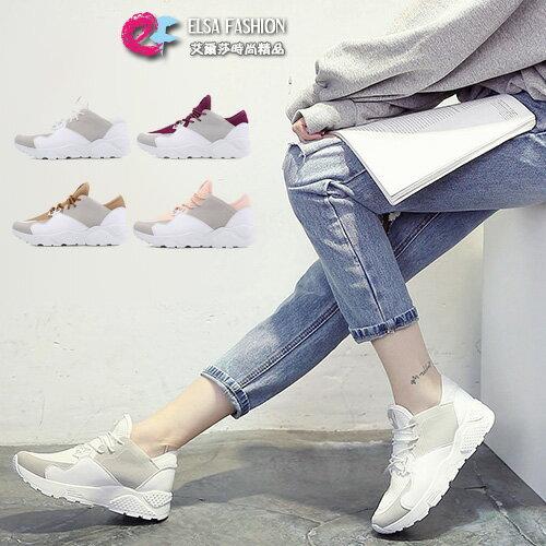 運動鞋潮流線條感網布運動鞋艾爾莎【TSB8777】