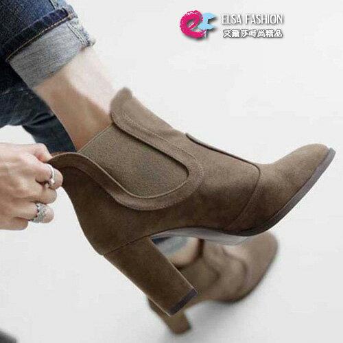 中靴馬靴極緻鬆緊帶設計高跟馬丁靴艾爾莎【TSE8770】