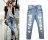 牛仔長褲*艾爾莎*時尚寬鬆破洞直筒牛仔褲S~XL【TAT7414】 1