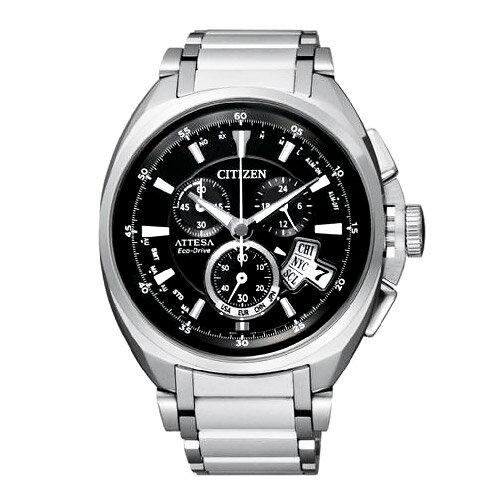 CITIZEN星辰BY0020-59E酷男本色電波鈦金屬光動能腕錶/黑面46mm