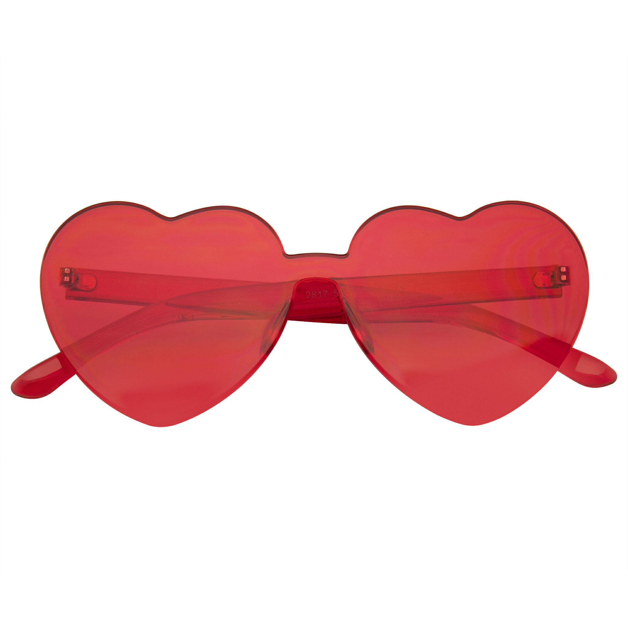 Vintage Retro Fashion Colorful Heart Shaped Sunglasses With Spring Hinge