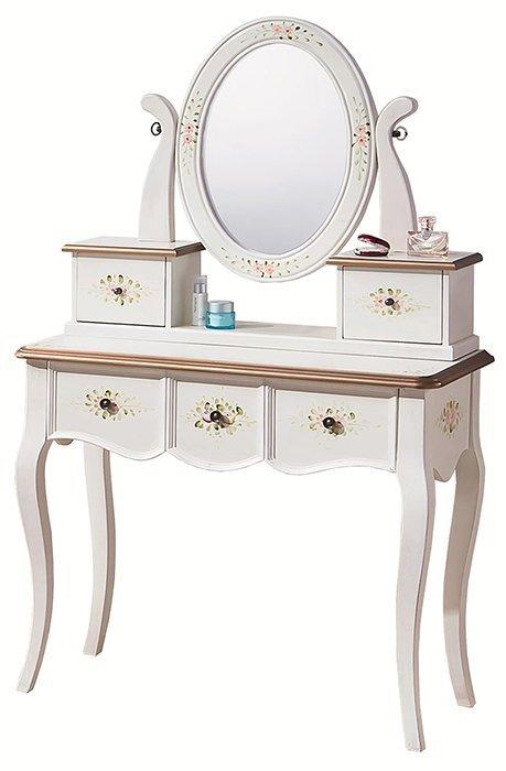 ~尚品 ~HY~B229~01 伊麗莎白3尺鏡台 含椅