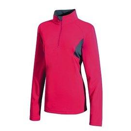 【【蘋果戶外】】山林 21P12-34 深桃紅 Mountneer 女 透氣排汗長袖上衣 吸濕排汗衣 防曬 抗UV 彈性