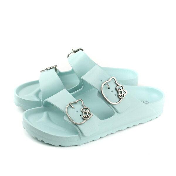 Hellokitty拖鞋勃肯鞋女鞋粉藍色915139no105