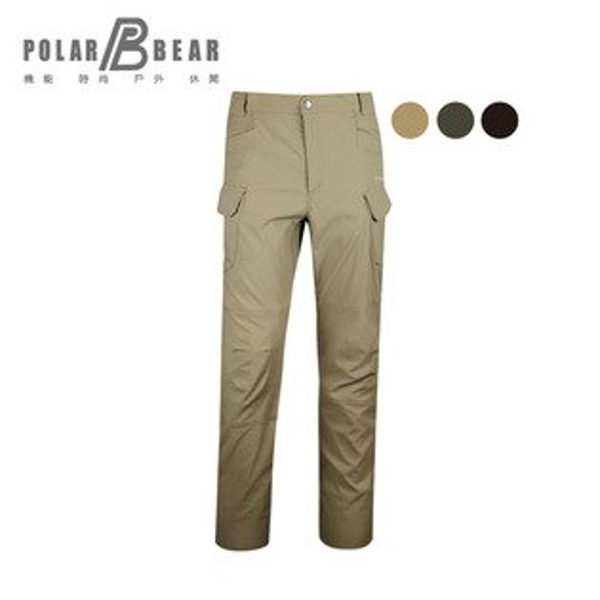 【POLARBEAR】男彈性CORDURA抗UV多袋長褲