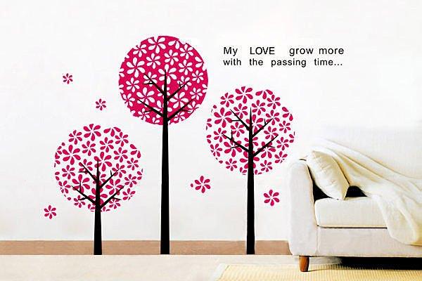 BO雜貨【YP1465】可重複貼 牆壁裝飾壁貼 壁紙 壁貼 創意壁貼 背景貼 夢幻花樹