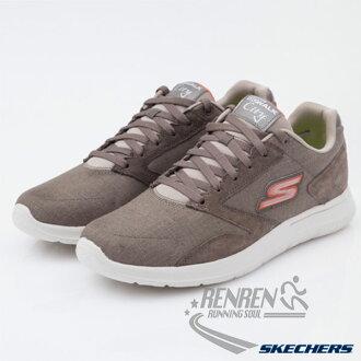 SKECHERS 男健走鞋 GO Walk City (棕色) 懶人鞋 運動鞋