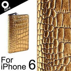 韓國 Gaze Gold Croco iPhone 6 / 6S 4.7吋 金漆鱷紋手工真皮保護套 皮套 保護殼