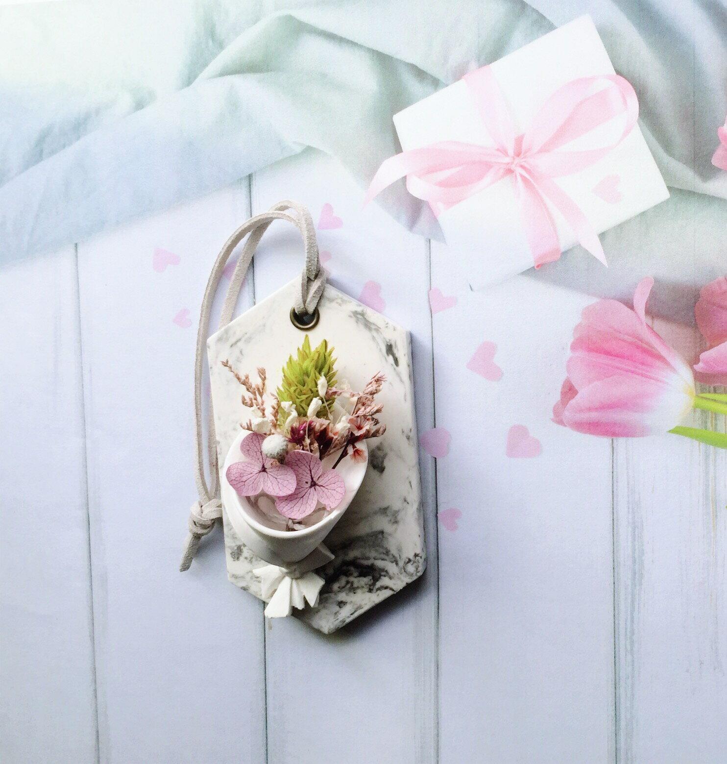 大理石花束擴香片 香氛手工製作 情人節禮物 生日禮物 婚禮小物 送禮小物
