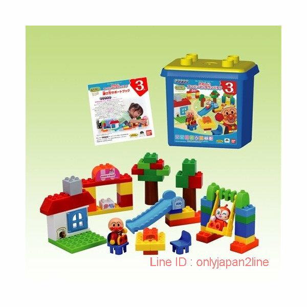 【真愛日本】17021000006積木玩具造型箱組50PCS-ANP  電視卡通 麵包超人 細菌人 兒童玩具 正品
