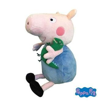 **雙子俏媽咪親子館** 美國Zoobies x Peppa Pig 粉紅豬小妹 多功能玩偶毯 / 毛毯 / 玩偶 / 抱枕 【正版授權】-喬治George