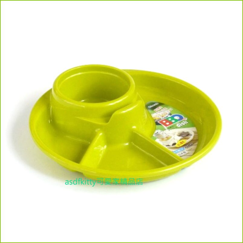 asdfkitty可愛家☆日本製-綠色便利餐盤/兒童餐盤-單手拿飲料跟餐點-野餐.烤肉.派對聚餐都好用