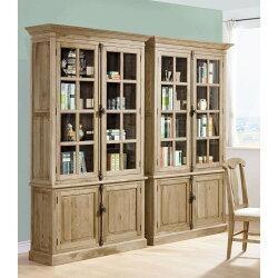 【簡單家具】,H488-01 伊利諾白橡全實木4尺書櫃,大台北都會區免運費,組裝定位到好!