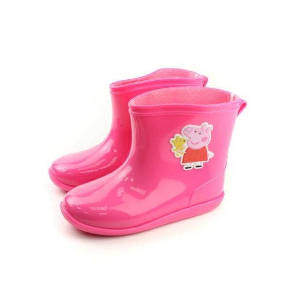 粉紅豬小妹 雨鞋 童鞋 桃紅色 小童 no688