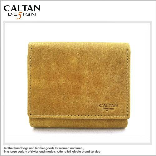 牛皮/中短皮夾【CALTAN】 手工牛皮三折式中短皮夾-ht1983