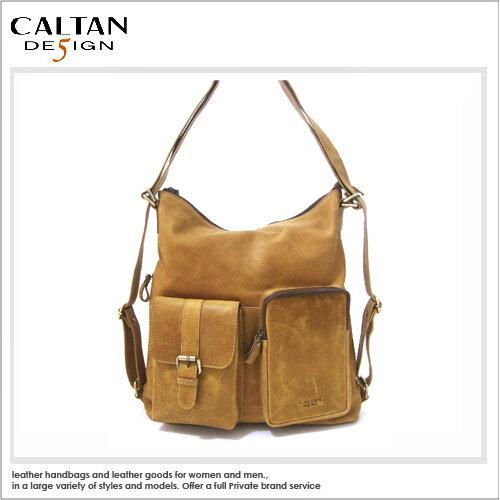牛皮後背包-肩包-CALTAN -質感兩用肩背/後背真皮兩用包- ht5268