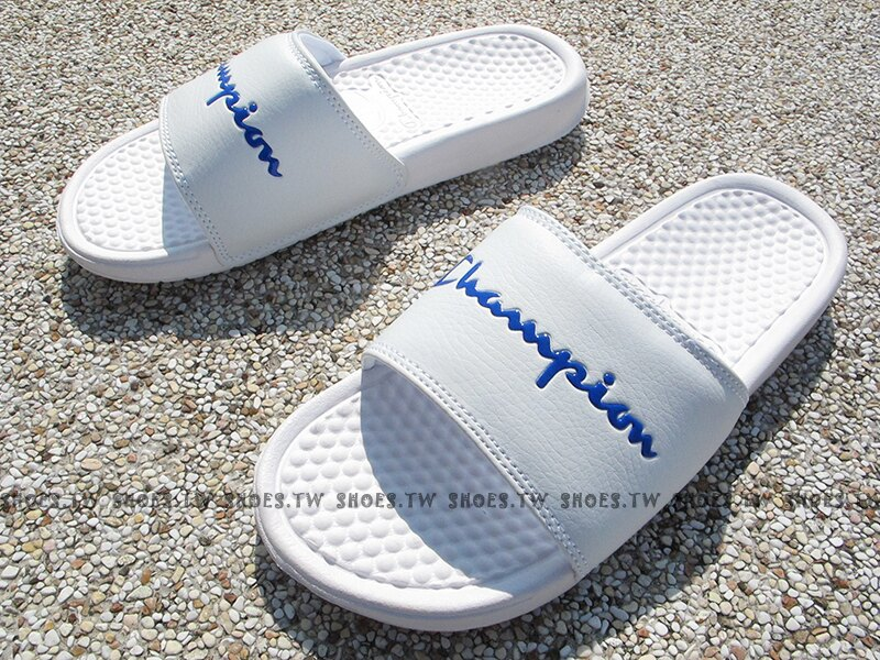 Shoestw【733250200】CHAMPION 拖鞋 運動拖鞋 小LOGO 白色 男女尺寸 0