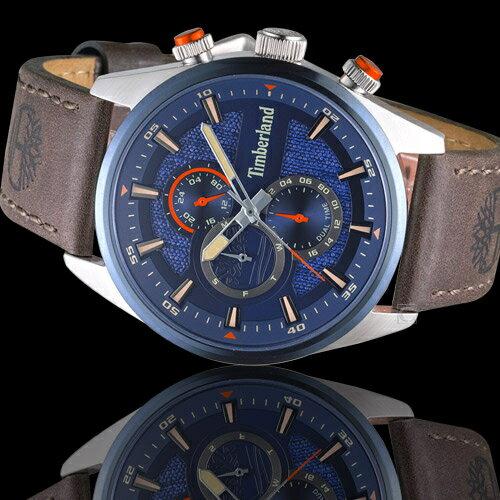 Timberland 天柏嵐 雙時區休閒皮帶錶(TBL.15953JSTBL / 03)46mm 1
