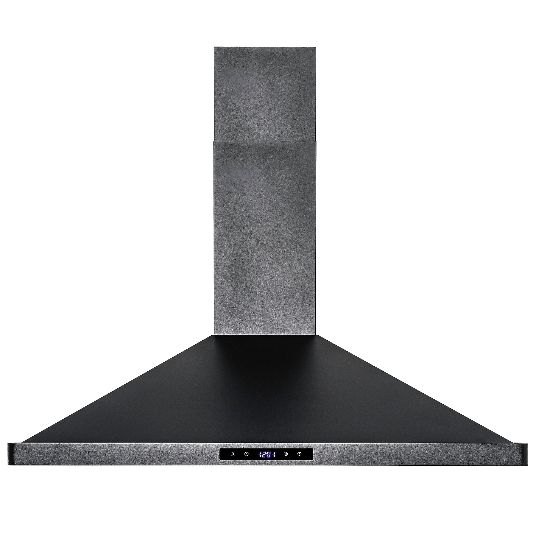 "AKDY Black Finish 36"" Stainless Steel Touch Control Wall Mount Range Hood Cooking Fan Vent 4"