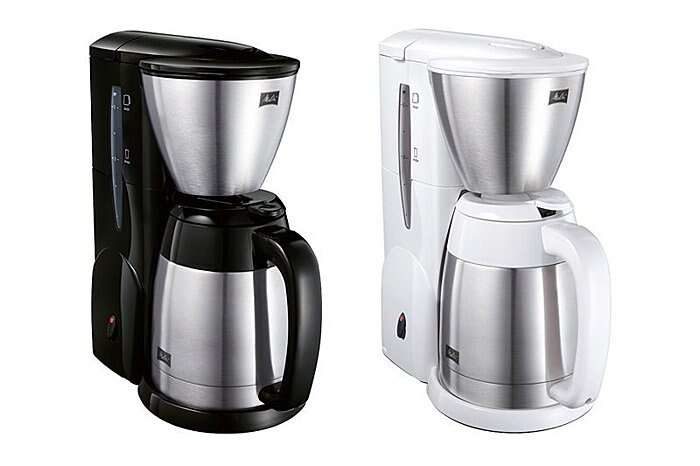 【沐湛咖啡】 附量匙 濾紙 美利塔Melitta 不鏽鋼真空雙層結構 美式咖啡機MKM-531 美式壺 黑色/白色