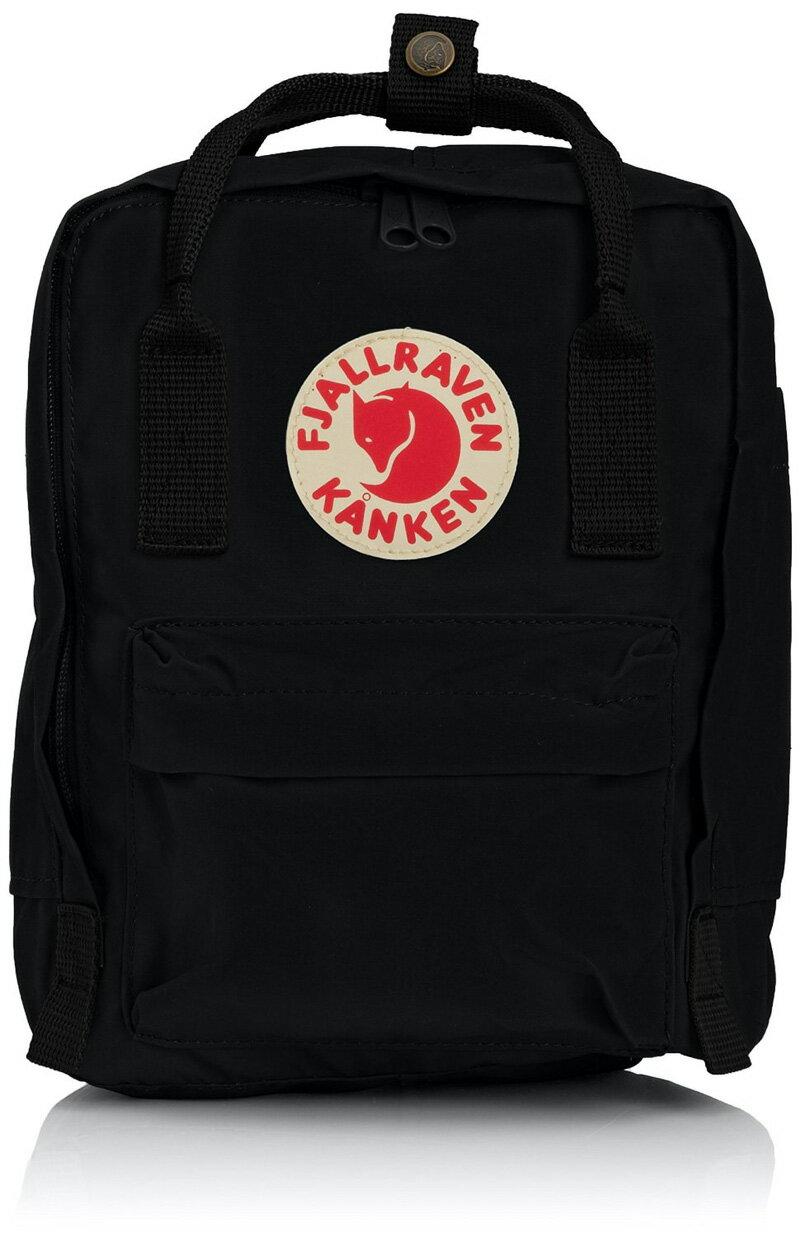 【鄉野情戶外專業】 Fjallraven |瑞典|  小狐狸 Kanken Mini 方型書包 方型背包 後背包 (黑色) _23561