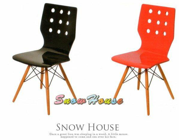 ╭☆雪之屋居家生活館☆╯AA608-0405DM0812造型椅(實木板噴漆實木腳)休閒椅餐椅洽談椅會客椅