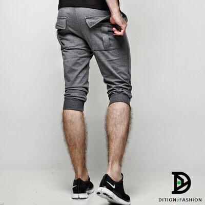 DITION 美式SLIDE單車反光條 口袋棉褲 運動短褲 1